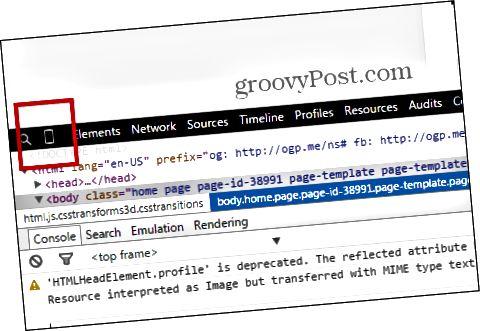 Emulation von Chrome-Entwicklertools