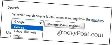 Chrome-Suchanbieter