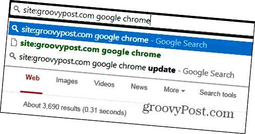 Chrome-Suche nur eine Website
