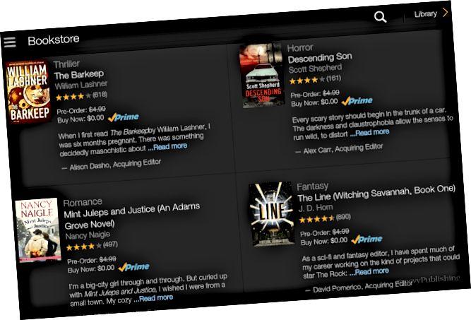 Vyberte bezplatnou e-knihu Amazon