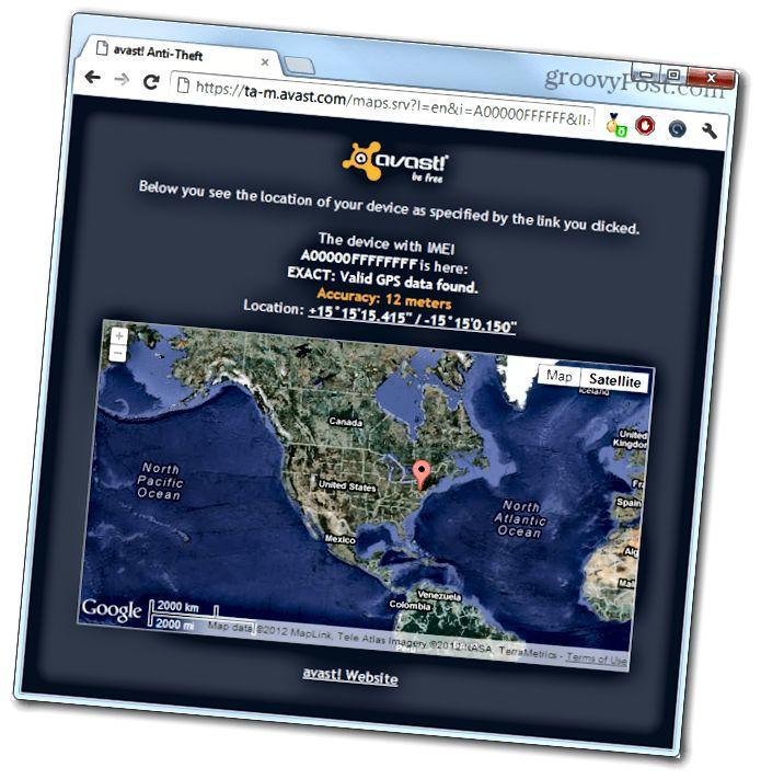 avast online gps συντεταγμένες της τοποθεσίας του τηλεφώνου