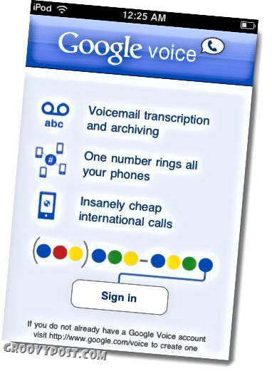 Google Voice pro iPad