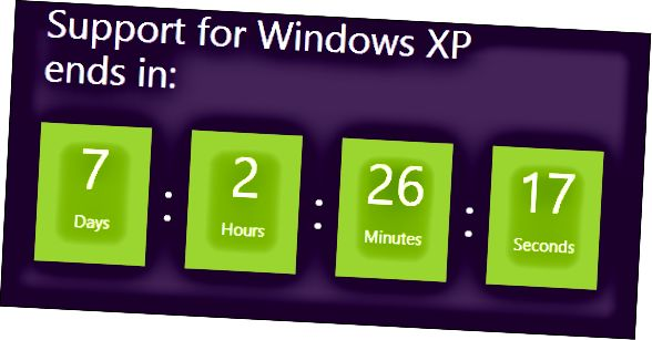 XP-tuki loppuu pian