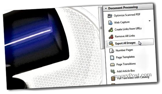 Adobe Acrobat Pro flytja allar myndir út