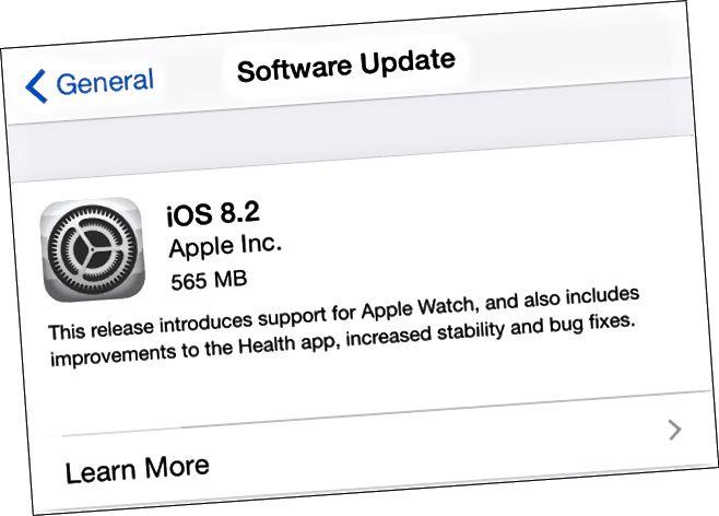 Apple iOS 8.2 fyrir iPhone og iPad - Hugbúnaðaruppfærsla