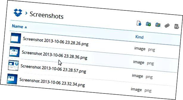 Screenshots Ordner Dropbox