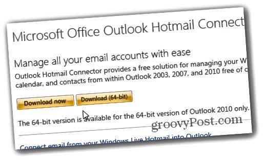 Outlook.com Outlook Hotmail Connector - Λήψη
