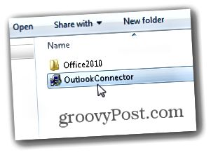 Outlook.com Outlook Hotmail Bağlayıcı - Installer outlookconnector.exe başladın