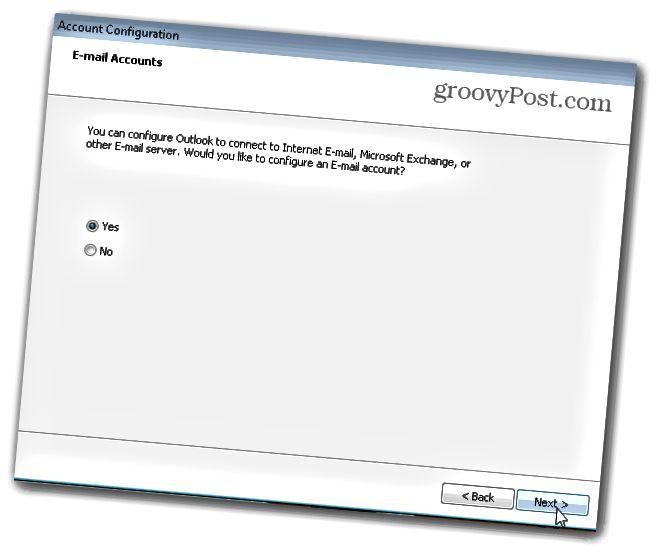 Outlook.com Outlook Hotmail Connector - Ρύθμιση του πελάτη - 2