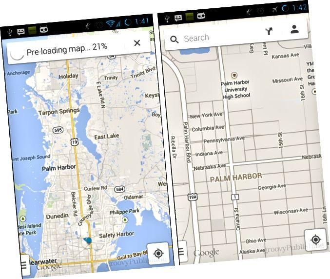 Google Zemljevidi brez povezave