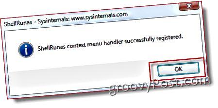 Hinzufügen Hinzufügen als anderer Benutzer zum Windows Explorer-Kontextmenü für Vista und Server 2008 :: groovyPost.com