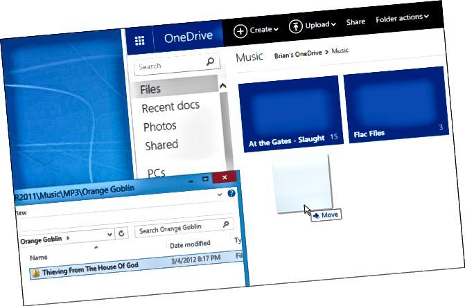 σύρετε το μουσικό web OneDrive