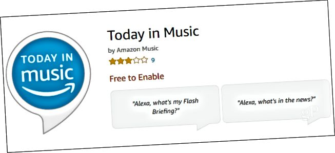 Alexa Skill Today in Music
