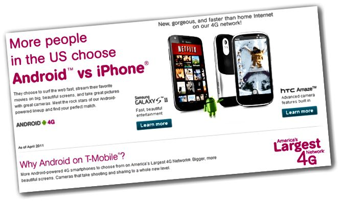 T-Mobile Android vs iPhone