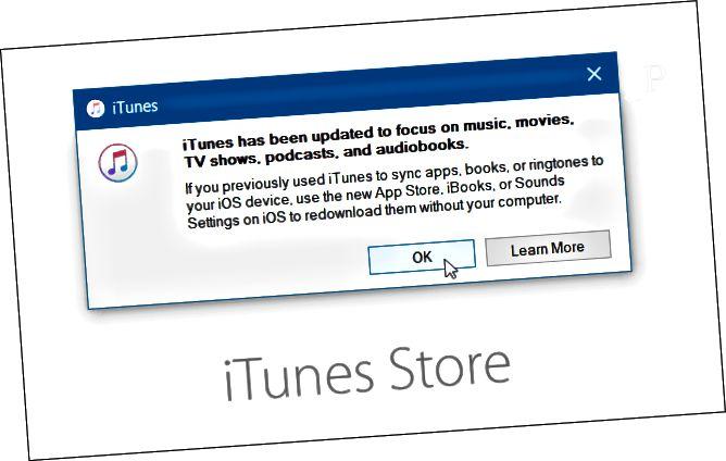 yenilənmiş iTunes Mesajı
