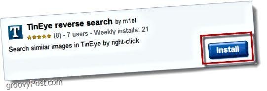 TinEye Reverse Search Chrom-Erweiterung