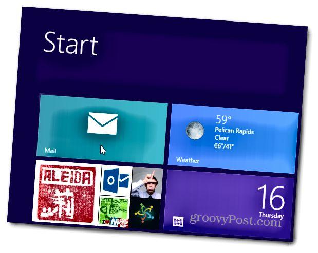 Windows 8 Mail Müştərisini işə salın