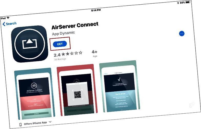 AirServer Connect iOS qurun