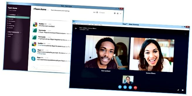 Slack- und Skype-Integration