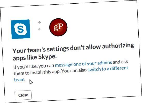 Nicht gut für Slack n Skype gP