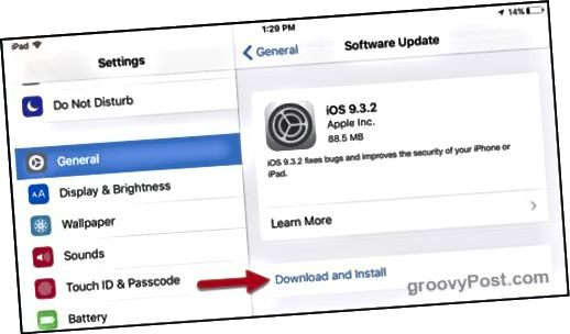 Apple iOS 9.3.2 ενημέρωση κώδικα ασφαλείας