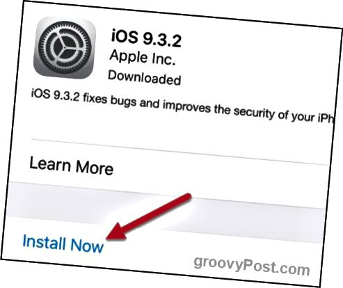 apple ios 9.3.2 εγκατάσταση