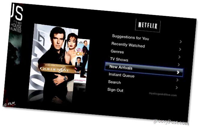 Netflix Menyu