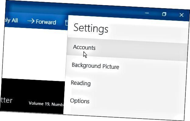 Windows 10 Mail App -tilit
