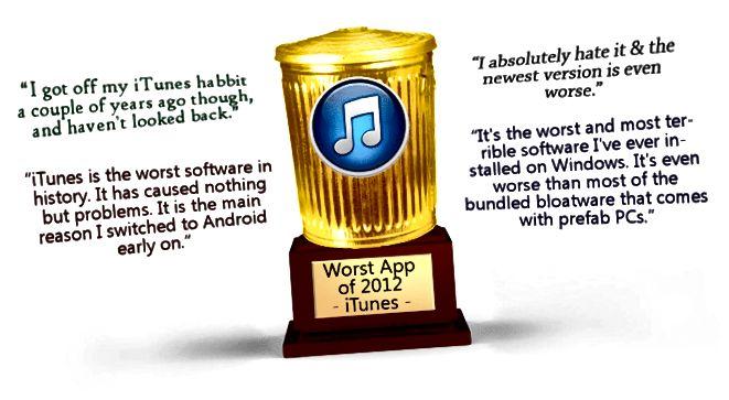 Laut Lesern die schlechteste iTunes-App des Jahres 2012
