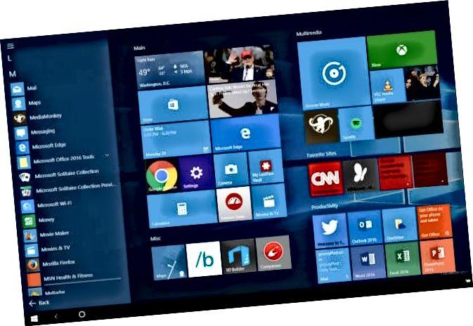 Tablet rejimi Windows 10