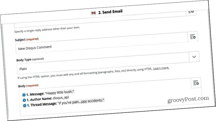 προσαρμογή email disqus