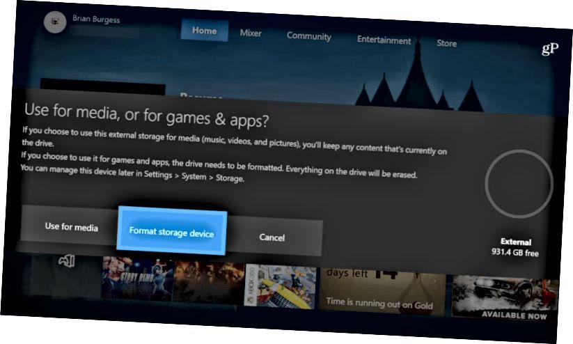 Τρόπος χρήσης πολυμέσων Xbox One