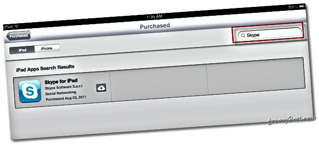 App-Suche