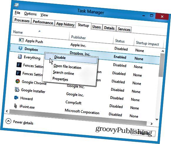 Windows 8: n käynnistys