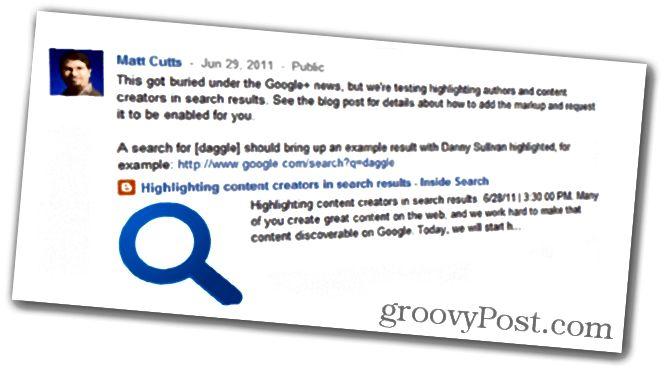 Matt Cutts ja Google-kirjoitus