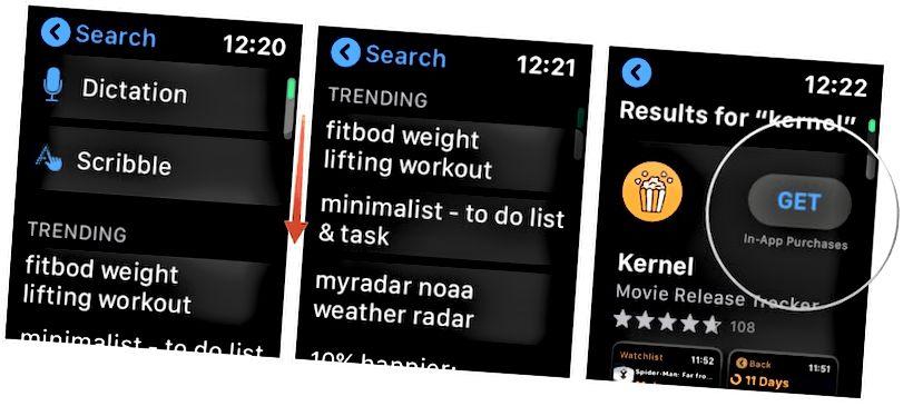 Apple Watch App Store axtarış