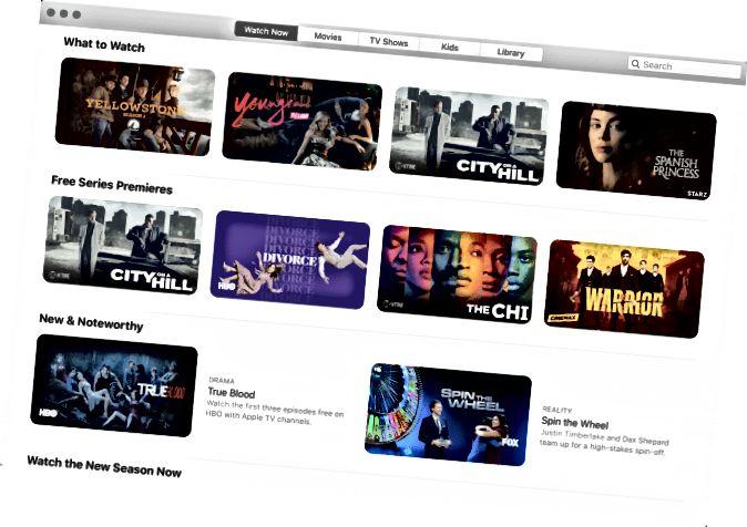 Apple TV App unter MacOS Catalina
