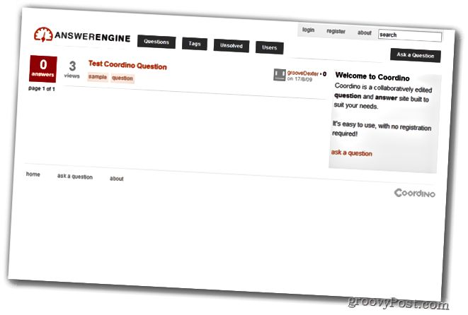 Μηχανή απάντησης Coordino