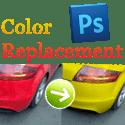 Värien korvaaminen Adobe Photoshopilla