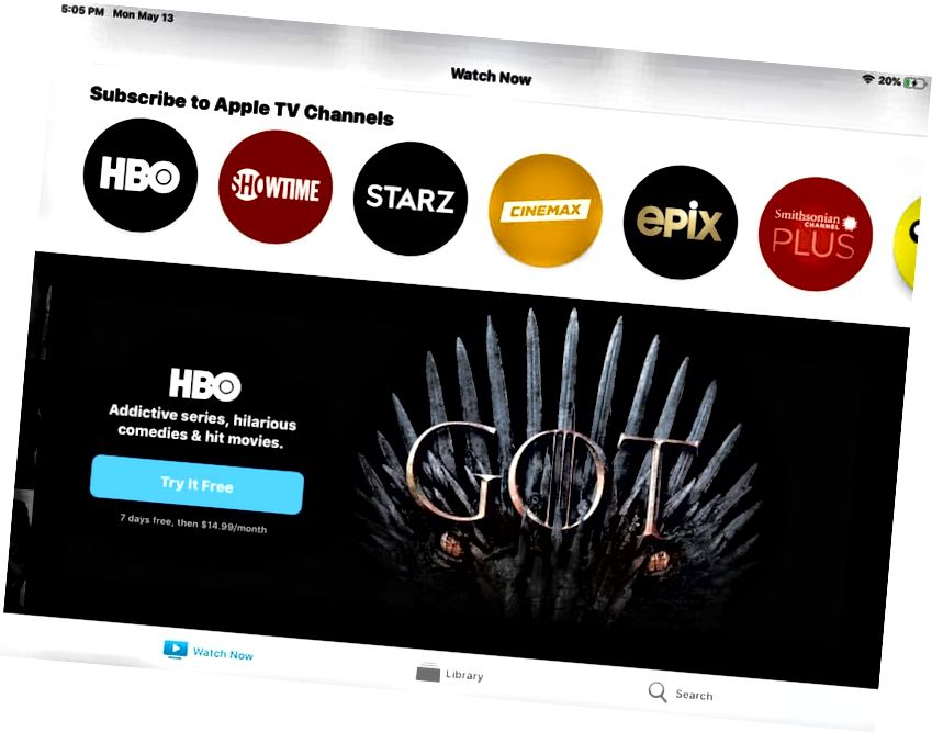 Uudet Apple TV App iPad -kanavan tilaukset