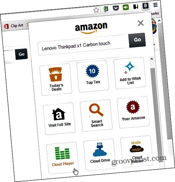 Amazon Chrome proširenje