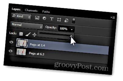 αλλαγή αδιαφάνειας επιπέδου photoshop επιστροφή 100 τοις εκατό ορατότητα