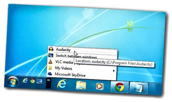 Audacity Quick Launch