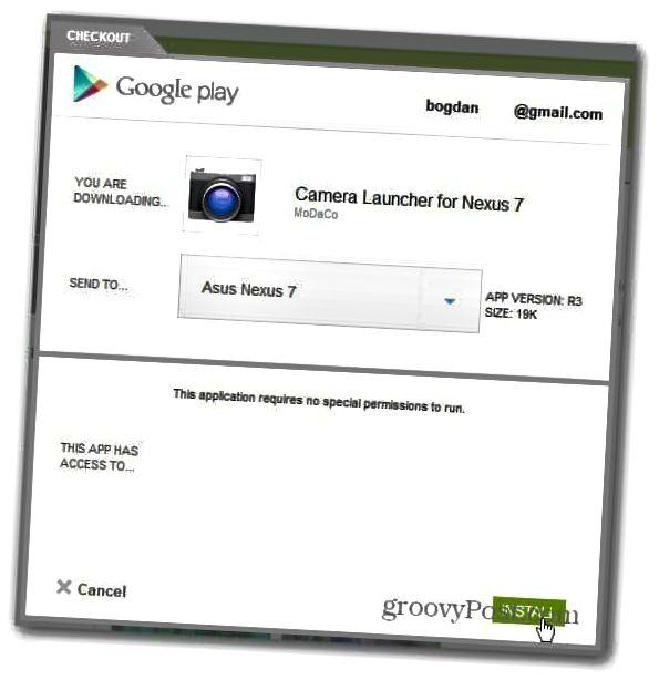 google nexus 7 εγκατάσταση κάμερας