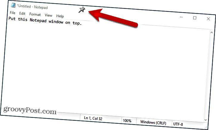 Připnout okno pomocí aplikace DeskPins