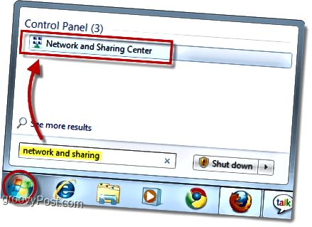 δίκτυο και κέντρο κοινής χρήσης στα παράθυρα 7