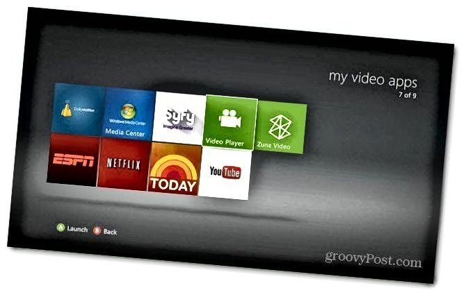 Přehrávač videa Xbox
