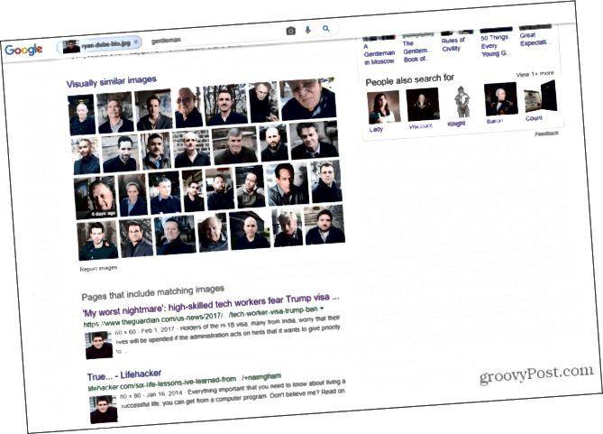 google üz axtarışı