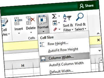 MS Excel göstərişləri ölçü-sütunlar-2