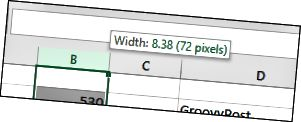 """pakeisti dydį-stulpeliai-4 """"Microsoft Excel"""""""